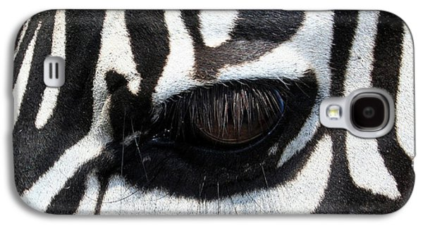 Zebra Eye Galaxy S4 Case by Linda Sannuti