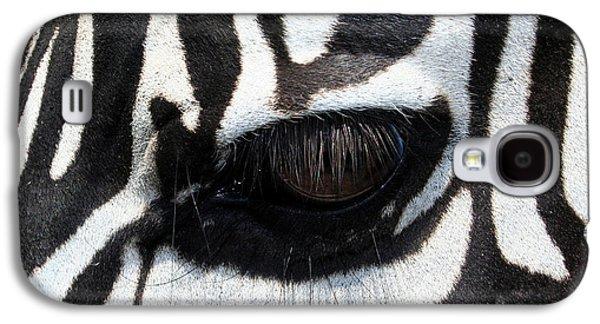 Galaxy S4 Cases - Zebra Eye Galaxy S4 Case by Linda Sannuti