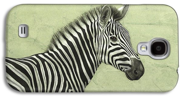 Nature Drawings Galaxy S4 Cases - Zebra Galaxy S4 Case by James W Johnson