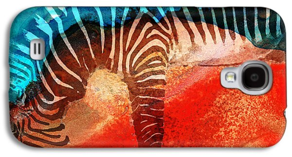 Stripes Mixed Media Galaxy S4 Cases - Zebra Love - Art By Sharon Cummings Galaxy S4 Case by Sharon Cummings