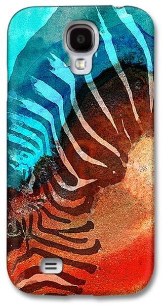 Zebra Love - Art By Sharon Cummings Galaxy S4 Case by Sharon Cummings