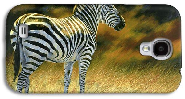 Zebra Galaxy S4 Case by Lucie Bilodeau
