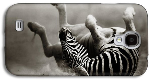 Activity Photographs Galaxy S4 Cases - Zebra rolling Galaxy S4 Case by Johan Swanepoel