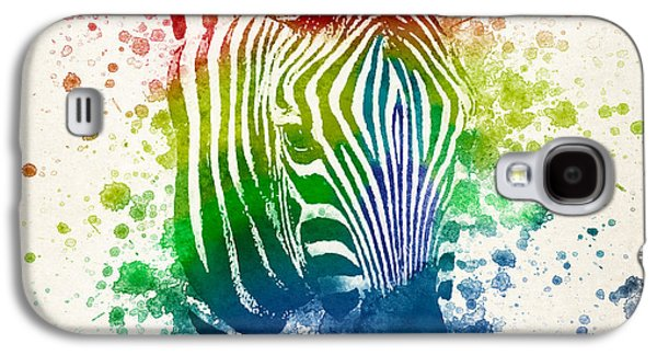 Vibrant Colors Digital Galaxy S4 Cases - Zebra Splash Galaxy S4 Case by Aged Pixel