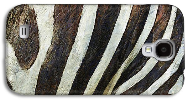 Zebra Digital Art Galaxy S4 Cases - Zebra Texture Galaxy S4 Case by Ayse Deniz
