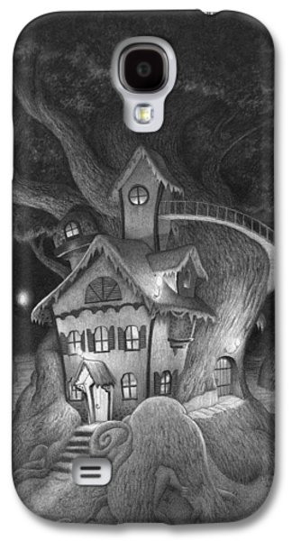 Creepy Drawings Galaxy S4 Cases - Zelmas House Galaxy S4 Case by Richard Moore