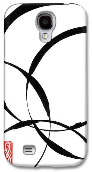 Indian Ink Galaxy S4 Cases - Zen Circles 2 Galaxy S4 Case by Hakon Soreide