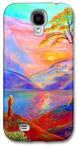Flying Swan, Zen Moment Galaxy S4 Case by Jane Small