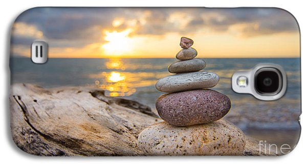 Buddhism Galaxy S4 Cases - Zen Stones Galaxy S4 Case by Aged Pixel
