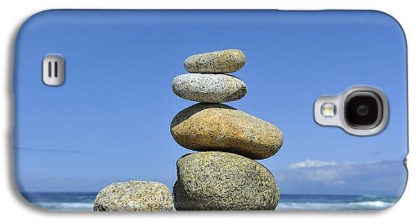 Concept Photographs Galaxy S4 Cases - Zen Stones I Galaxy S4 Case by Marianne Campolongo