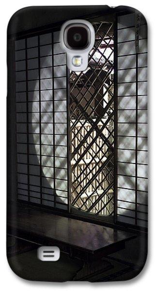 Bamboo Fence Galaxy S4 Cases - Zen Temple Window - Kyoto Galaxy S4 Case by Daniel Hagerman