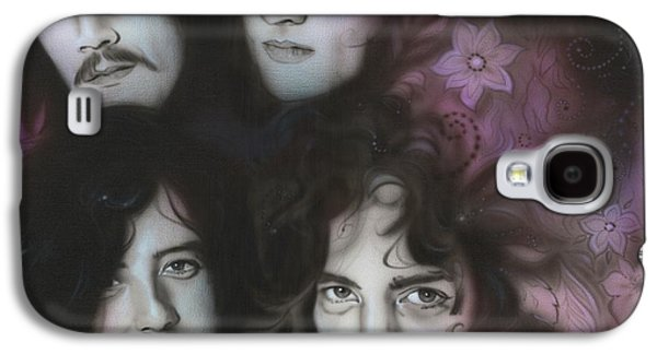 Jimmy Page Galaxy S4 Cases - Zeppelin Galaxy S4 Case by Christian Chapman Art