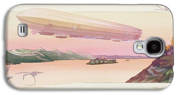 Zeppelin, Published Paris, 1914 Galaxy S4 Case by Ernest Montaut