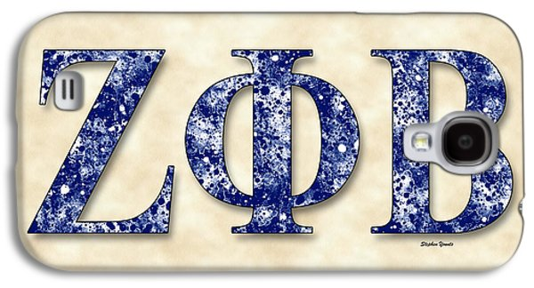 Zeta Phi Beta - Parchment Galaxy S4 Case by Stephen Younts