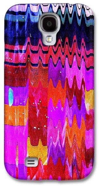 Shower Curtain Galaxy S4 Cases - Ziggy Quilt Galaxy S4 Case by Anne-Elizabeth Whiteway