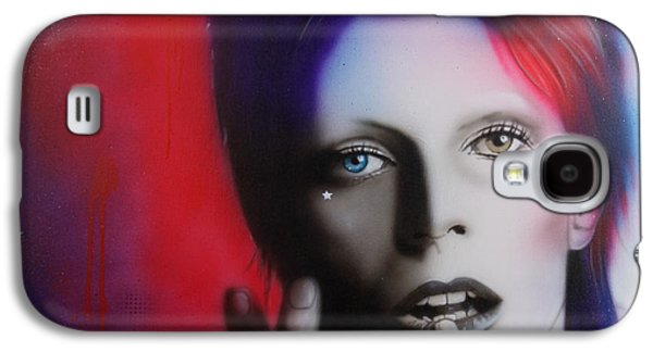 Power Paintings Galaxy S4 Cases - Ziggy Stardust Galaxy S4 Case by Christian Chapman