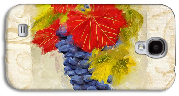 Grape Leaf Galaxy S4 Cases - Zinfandel Galaxy S4 Case by Lourry Legarde