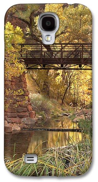 Landscapes Photographs Galaxy S4 Cases - Zion Bridge Galaxy S4 Case by Adam Romanowicz