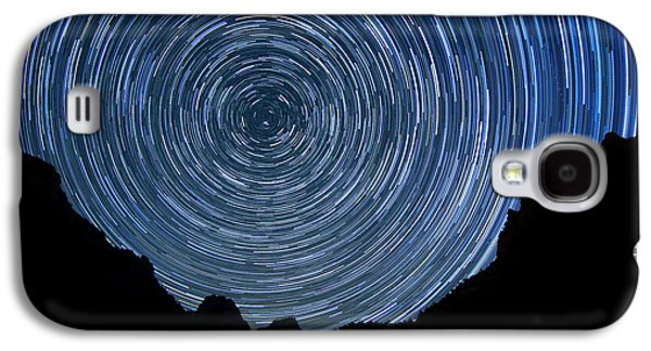Constellations Pyrography Galaxy S4 Cases - Zion Long Exposure Star Trail Image Galaxy S4 Case by Katrina Brown