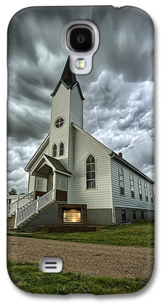 Wind Photographs Galaxy S4 Cases - Zion Luthern Church Galaxy S4 Case by Thomas Zimmerman