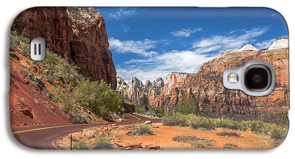 Haybale Galaxy S4 Cases - Zion Mount Carmel Highway Galaxy S4 Case by Robert Bales