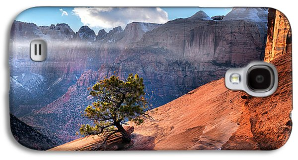 Dreamscape Galaxy S4 Cases - Zion National Park Light Galaxy S4 Case by Leland D Howard