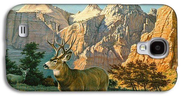 National Park Paintings Galaxy S4 Cases - ZionCountry Muleys Galaxy S4 Case by Paul Krapf