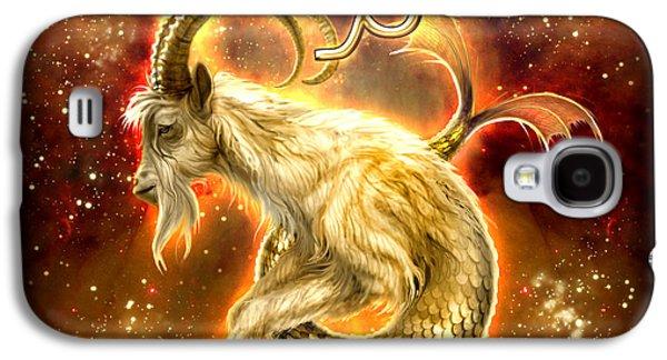 Zodiac Capricorn Galaxy S4 Case by Ciro Marchetti