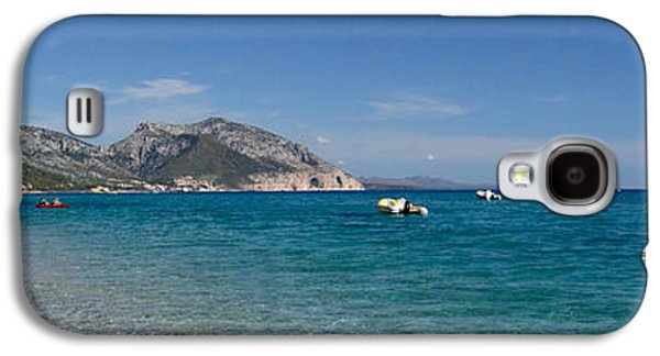 Sailboat Images Galaxy S4 Cases - Zodiacs And Sailboat In The Sea, Cala Galaxy S4 Case by Panoramic Images