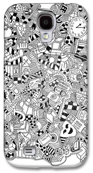 Abstract Collage Drawings Galaxy S4 Cases - Zoinks Galaxy S4 Case by Chelsea Geldean