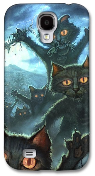 Lightning Digital Art Galaxy S4 Cases - Zombie Cats Galaxy S4 Case by Jeff Haynie