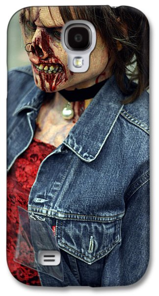 Character Portraits Mixed Media Galaxy S4 Cases - Carmen zombie face Galaxy S4 Case by Toppart Sweden