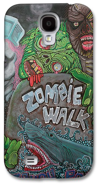 Asbury Park Paintings Galaxy S4 Cases - Zombie Walk Galaxy S4 Case by Laura Barbosa