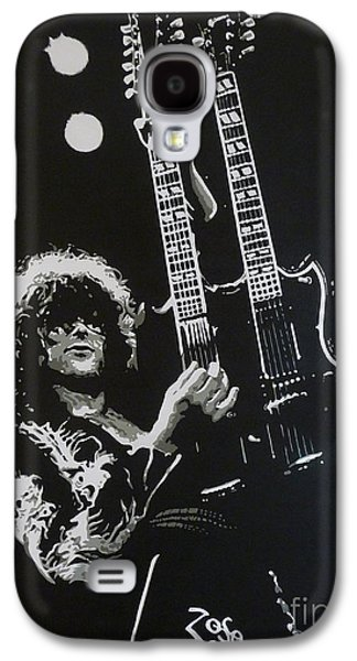 Led Zeppelin Paintings Galaxy S4 Cases - Zoso Galaxy S4 Case by ID Goodall