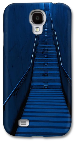 Man Looking Down Galaxy S4 Cases -  A Long Narrow Flight Of Stairs Galaxy S4 Case by Lawren Lu