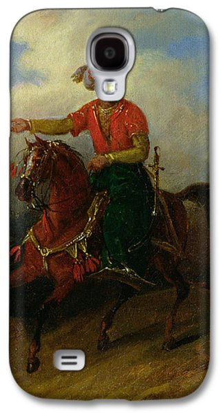 Orientalists Galaxy S4 Cases -  An Ottoman on Horseback  Galaxy S4 Case by Charles Bellier