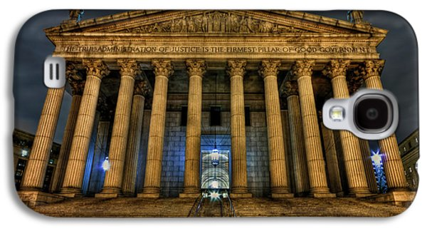 Columns Galaxy S4 Cases - ... And Justice For All Galaxy S4 Case by Evelina Kremsdorf