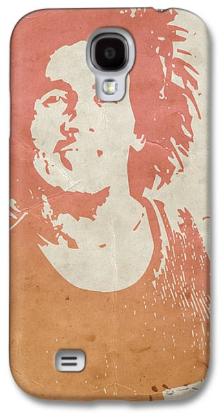 Bob Paintings Galaxy S4 Cases -  Bob Marley Brown Galaxy S4 Case by Naxart Studio