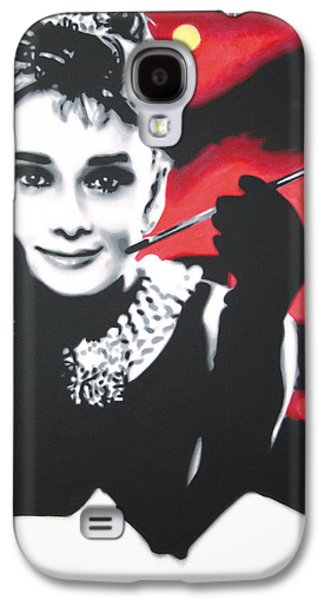 Actors Paintings Galaxy S4 Cases - - Breakfast at Tiffannys -  Galaxy S4 Case by Luis Ludzska