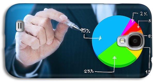 Investment Galaxy S4 Cases -  Businessman Writing Graph Galaxy S4 Case by Setsiri Silapasuwanchai