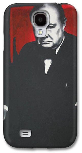 Ludzska Galaxy S4 Cases - - Churchill - Galaxy S4 Case by Luis Ludzska