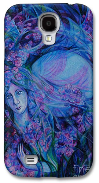 Lilacs Drawings Galaxy S4 Cases -  Song of Lilac Galaxy S4 Case by Anna  Duyunova