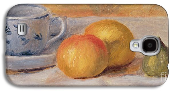 Still Life With Blue Cup Nature Morte A La Tasse Bleue Galaxy S4 Case by Pierre Auguste Renoir