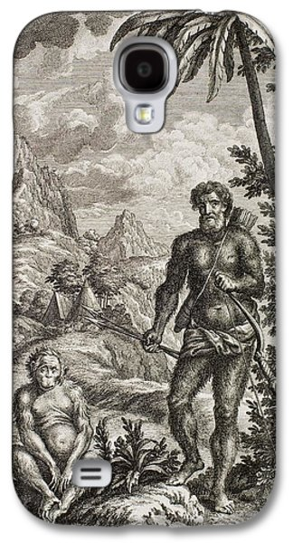 Creationism Galaxy S4 Cases - 1731 Johann Scheuchzer Hairy Esau Bible Galaxy S4 Case by Paul D Stewart