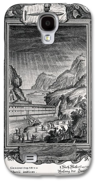 Creationism Galaxy S4 Cases - 1731 Johann Scheuchzer Noahs Ark Flood Galaxy S4 Case by Paul D Stewart