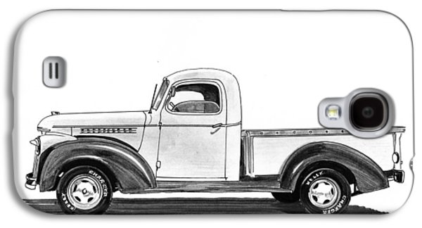 Pen And Ink Framed Prints Galaxy S4 Cases - 1946 Chevrolet Pick Up Galaxy S4 Case by Jack Pumphrey