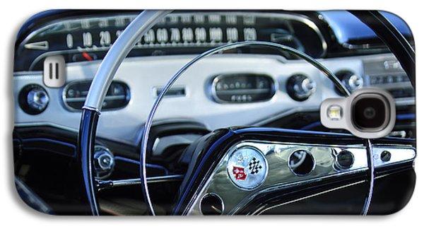 Imagery Galaxy S4 Cases - 1958 Chevrolet Impala Steering Wheel Galaxy S4 Case by Jill Reger