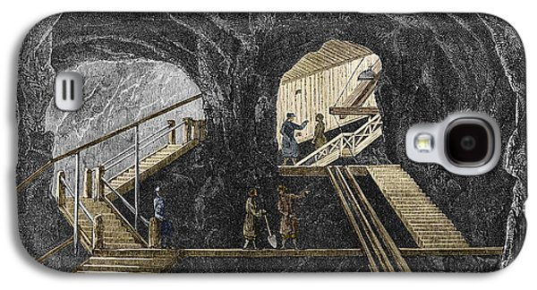 Working Conditions Photographs Galaxy S4 Cases - 19th-century Mining Galaxy S4 Case by Sheila Terry