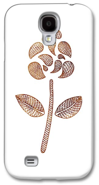 Earthy Paintings Galaxy S4 Cases - Abstract Flower Galaxy S4 Case by Frank Tschakert