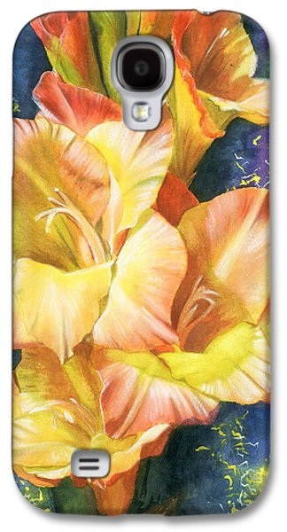 Gladiolas Paintings Galaxy S4 Cases - Afternoon Galaxy S4 Case by Barbara Keith
